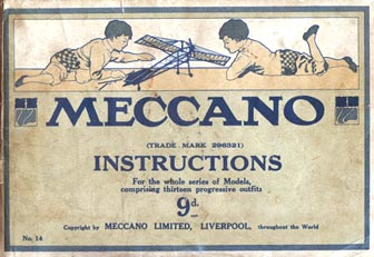 1914 Meccano manual front cover