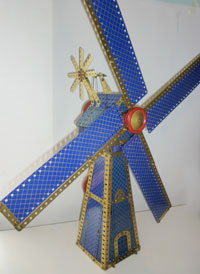 Blue gold windmill