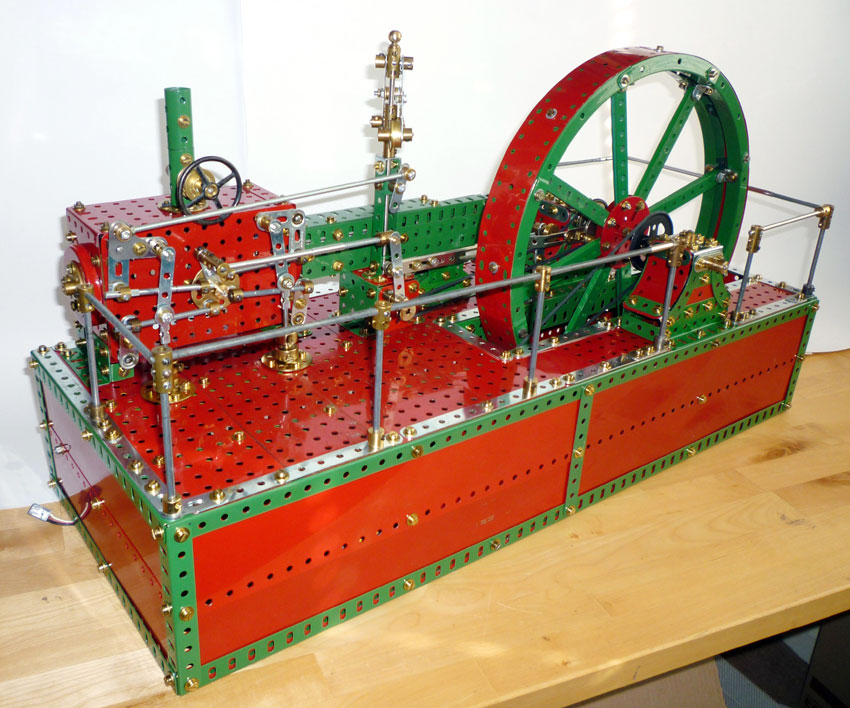 Meccano Corliss steam engine 01