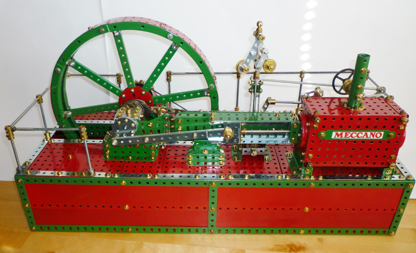Meccano Corliss steam engine 04
