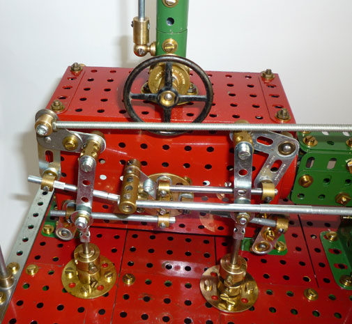 Meccano Corliss valve close up
