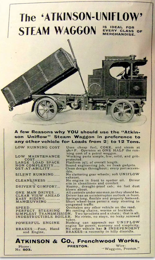 Atkinson tipping steam wagon