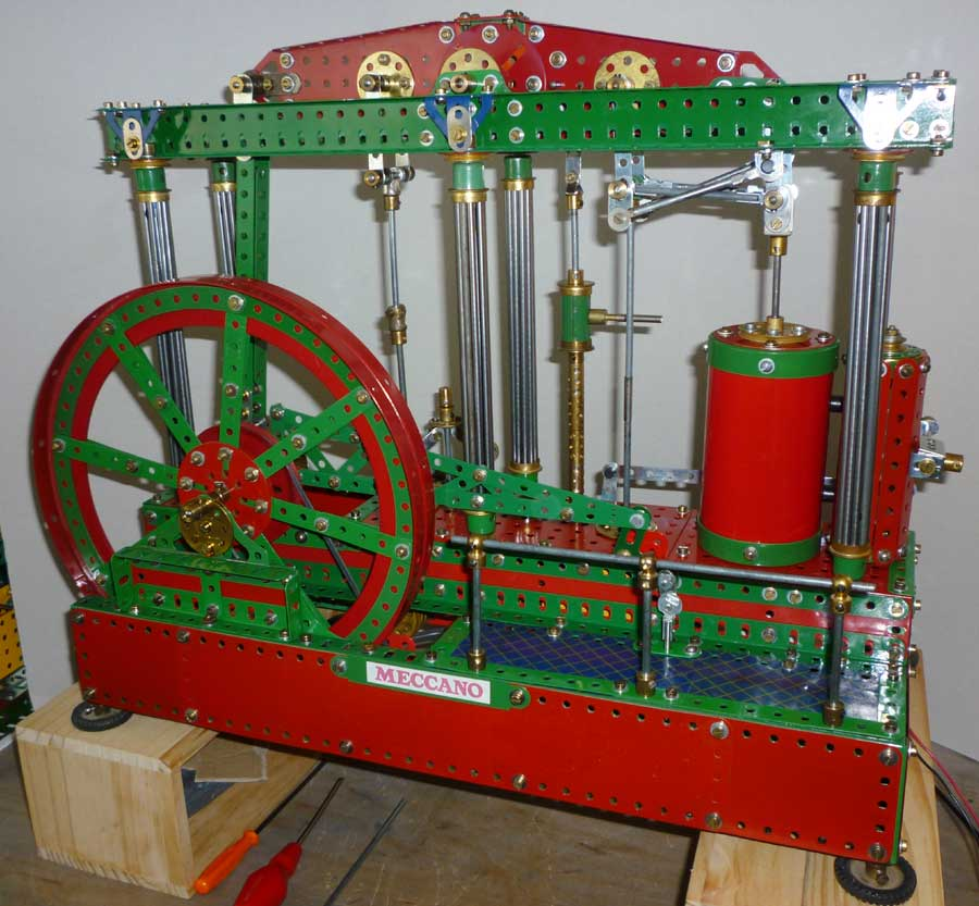 fly wheel side of beam engine