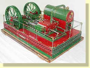 Meccano Twin cylinder engine